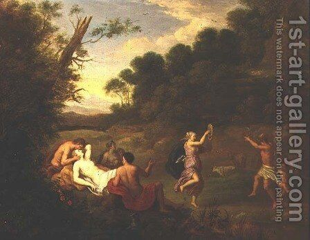 Bacchic Revel in a Wooded Landscape by Daniel Vertangen - Reproduction Oil Painting
