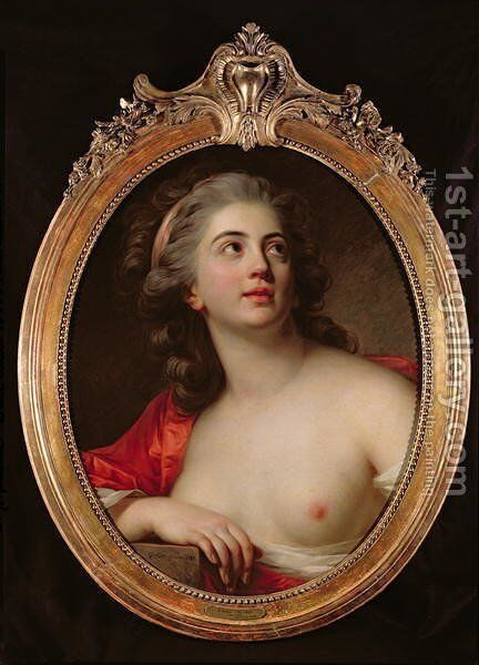Bacchante, 1783 by Antoine Vestier - Reproduction Oil Painting