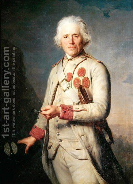 Jean Theurel 1699-1807 by Antoine Vestier - Reproduction Oil Painting