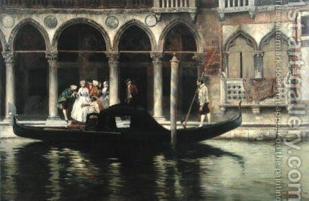 The Departures, 1890 by Cesare Vianello - Reproduction Oil Painting