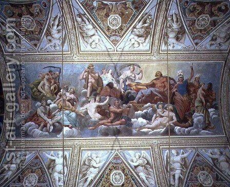 The Gods on Olympus, ceiling painting by Antonio Maria Viani - Reproduction Oil Painting
