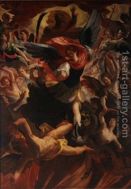 The Archangel Michael Vanquishing the Devil by Antonio Maria Viani - Reproduction Oil Painting