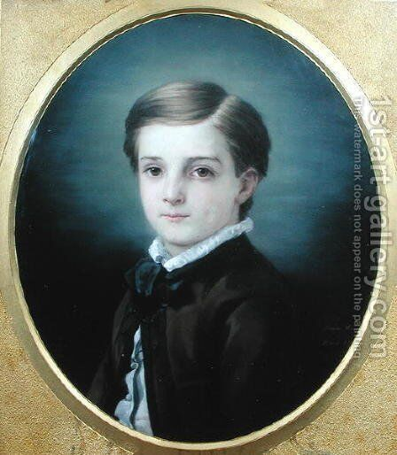 Portrait of Pierre Loti 1850-1923 by his sister, 1862 by Marie Viaud - Reproduction Oil Painting
