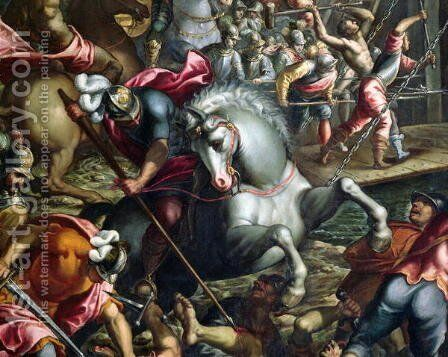 The Crusaders Conquering the City of Zara in 1202 by Andrea Michieli (see Vicentino) - Reproduction Oil Painting