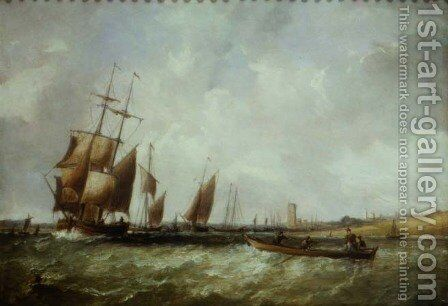 Shipping in the Bristol Channel by Alfred Vickers - Reproduction Oil Painting