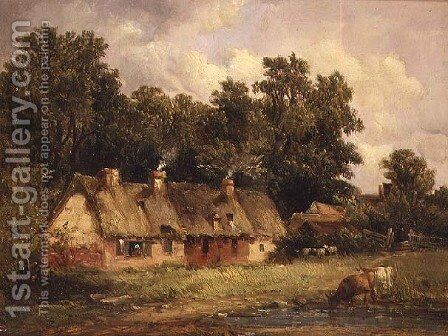 Near Wilford, Nottinghamshire,1868 by Alfred Vickers - Reproduction Oil Painting