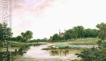 Eton by Alfred Vickers - Reproduction Oil Painting
