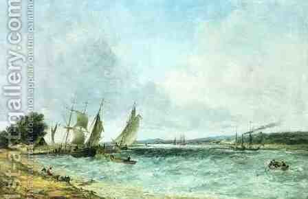 English seascape by Alfred Vickers - Reproduction Oil Painting
