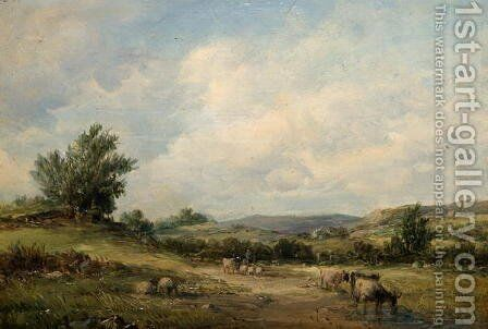 In the Vale of Neath by Alfred Vickers - Reproduction Oil Painting