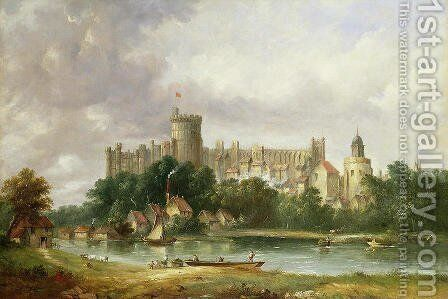 Windsor Castle from the Thames by Alfred Vickers - Reproduction Oil Painting