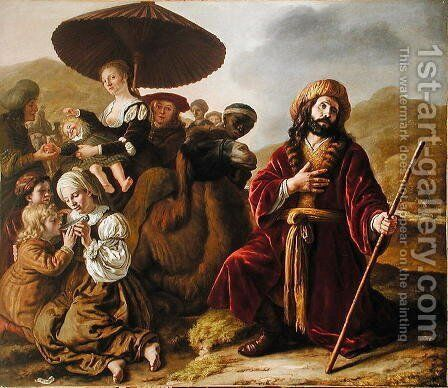 Jacob Seeking Forgiveness of Esau, 1652 by Jan Victors - Reproduction Oil Painting