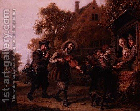The Blind Fiddler by Jan Victors - Reproduction Oil Painting