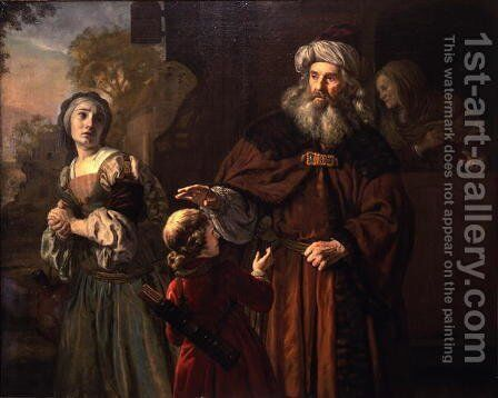 The Dismissal of Hagar, 1650 by Jan Victors - Reproduction Oil Painting