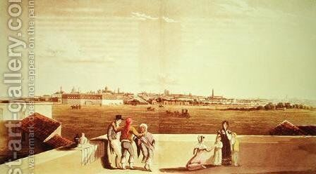 General View of Buenos Aires from the Plaza del Toros, from 'Picturesque Illustrations of Buenos Aires and Montevideo, 1820 by (after) Vidal, Emeric Essex - Reproduction Oil Painting