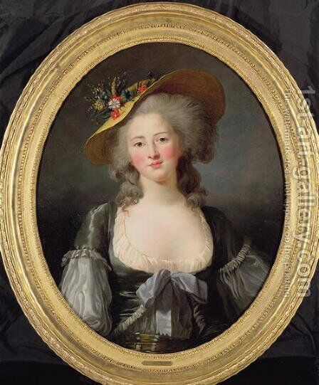 Portrait of Princess Elisabeth of France 1764-94 a sister of Louis XVI, 1782 by Elisabeth Vigee-Lebrun - Reproduction Oil Painting