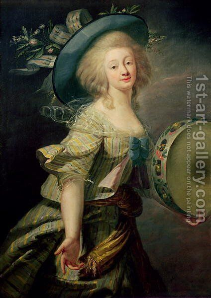Portrait of Marie-Anne de Cupis 1710-70 also known as La Camargo by Elisabeth Vigee-Lebrun - Reproduction Oil Painting