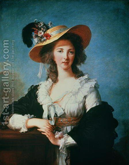 Portrait of the Duchess of Polignac c.1749-93 by Elisabeth Vigee-Lebrun - Reproduction Oil Painting