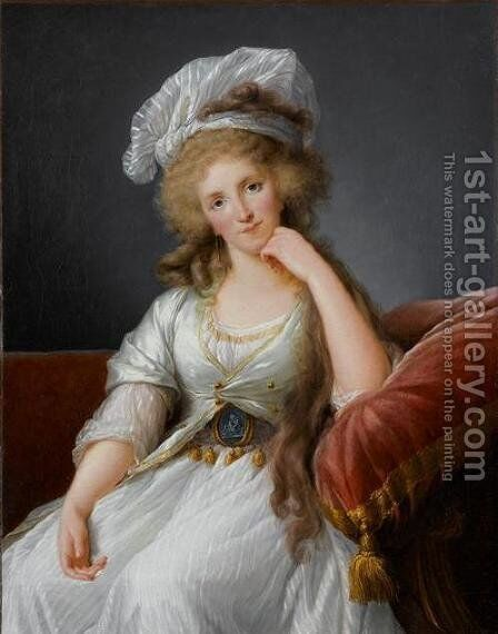 Portrait of Marie Adelaide 1759-1802 Duchess of Orleans by Elisabeth Vigee-Lebrun - Reproduction Oil Painting
