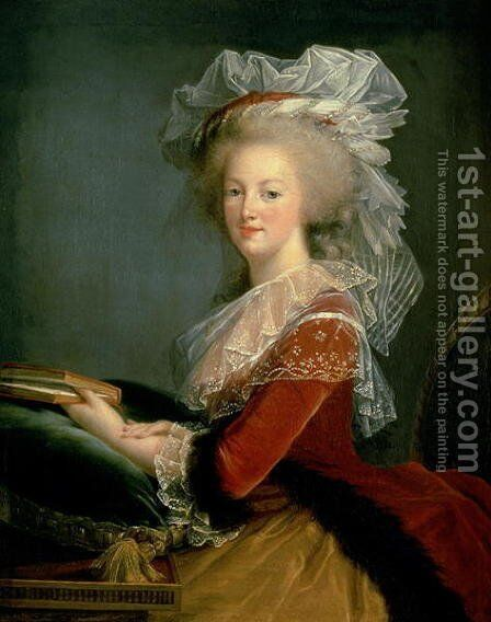 Portrait of Marie Antoinette 1755-93 by Elisabeth Vigee-Lebrun - Reproduction Oil Painting