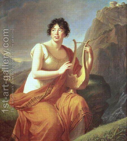 Madame de Stael as Corinne, 1809 by Elisabeth Vigee-Lebrun - Reproduction Oil Painting