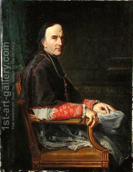 Georges Darboy 1813-71 Archbishop of Paris, 1878 by Jean Louis Victor Viger du Vigneau - Reproduction Oil Painting