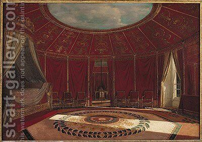 The Empress Josephines 1763-1814 Bedroom at Malmaison, 1870 by Jean Louis Victor Viger du Vigneau - Reproduction Oil Painting