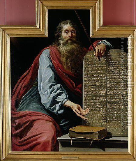 Moses with the Tablets of the Law by Claude Vignon - Reproduction Oil Painting