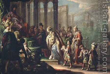 Solomon and the Queen of Sheba, or Esther before Ahasuerus, 1624 by Claude Vignon - Reproduction Oil Painting