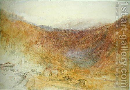 The Brunig Pass from Meiringen, Switzerland by Turner - Reproduction Oil Painting