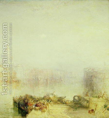 The Dogana and Santa Maria della Salute, Venice, 1843 by Turner - Reproduction Oil Painting