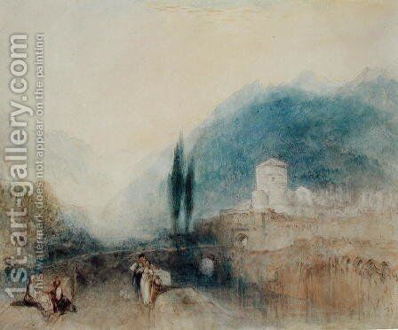 Bellinzona, 1842 by Turner - Reproduction Oil Painting