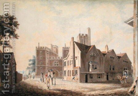 A View of the Archbishops Palace, Lambeth, 1790 by Turner - Reproduction Oil Painting