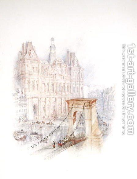 Paris Hotel de Ville by Turner - Reproduction Oil Painting