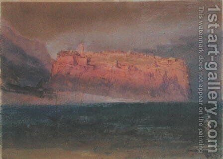 Corsica, Monaco c.1830-35 by Turner - Reproduction Oil Painting