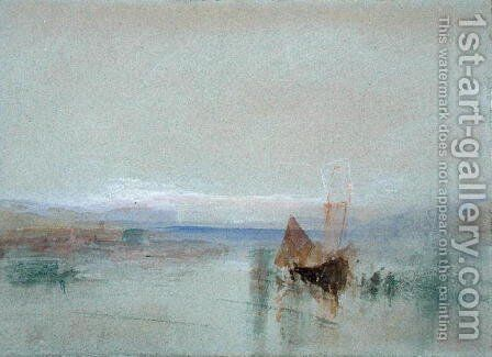 Fishing Boats Becalmed off Le Havre by Turner - Reproduction Oil Painting