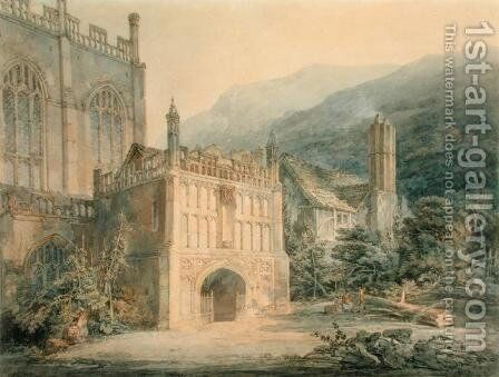 Porch of Great Malvern Abbey by Turner - Reproduction Oil Painting