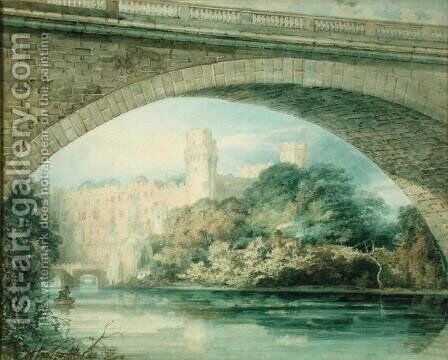 Warwick Castle and Bridge by Turner - Reproduction Oil Painting