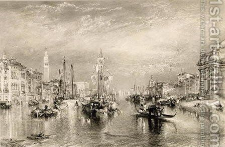 The Grand Canal, Venice, engraved by William Miller 1796-1882 1838-52 by Turner - Reproduction Oil Painting