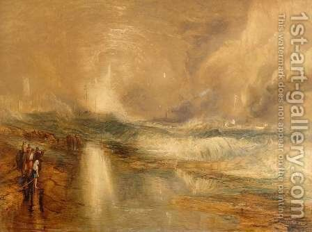 Rockets and Blue Lights, 1855 by Turner - Reproduction Oil Painting