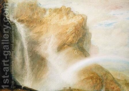 Upper Falls of the Reichenbach by Turner - Reproduction Oil Painting