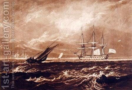 The Leader Sea Piece, engraved by Charles Turner 1773-1857 1859-61 by Turner - Reproduction Oil Painting