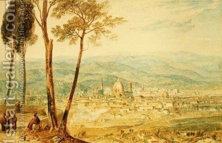 Florence from the road to Fiesole by Turner - Reproduction Oil Painting