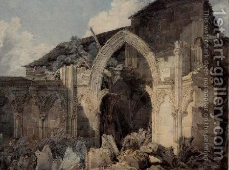 Glastonbury Abbey by Turner - Reproduction Oil Painting