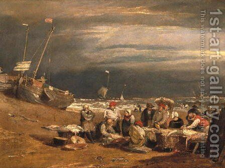 Fishmarket on the Beach by Turner - Reproduction Oil Painting