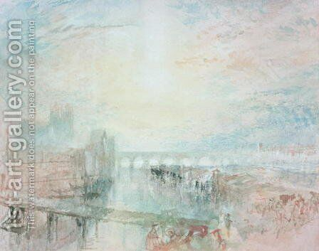 View of Lyons by Turner - Reproduction Oil Painting