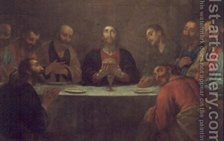 The Last Supper by Antonio Viladomat Y Manalt - Reproduction Oil Painting