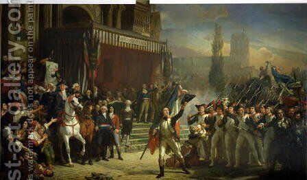 The Enrolment of Volunteers, 22nd July 1792, c.1850-53 by Auguste Jean-Baptiste Vinchon - Reproduction Oil Painting