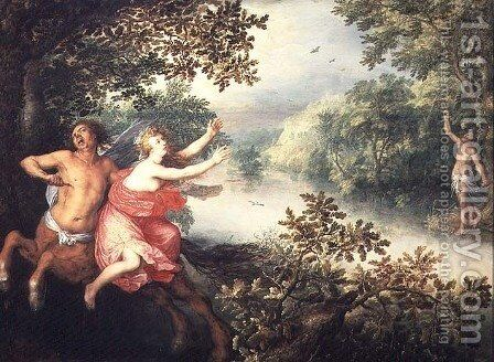 Hercules, Deianeira and the centaur Nessus, 1612 by David Vinckboons - Reproduction Oil Painting
