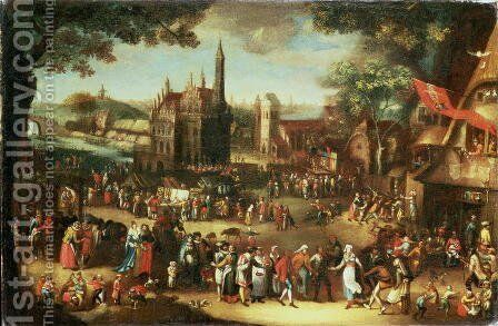 Kermesse at Avdenarde by David Vinckboons - Reproduction Oil Painting