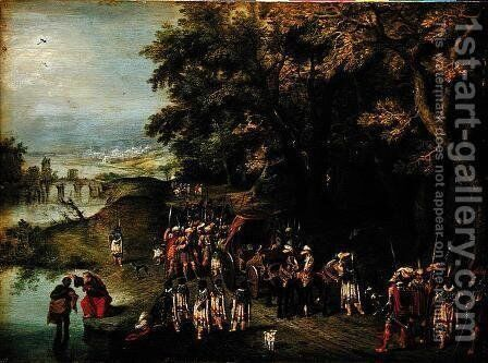 Baptism of the Chamberlains by David Vinckboons - Reproduction Oil Painting